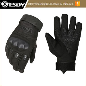 Black Winter Military Police Protective Gloves, Outdoor Cycling Snowing Gloves pictures & photos