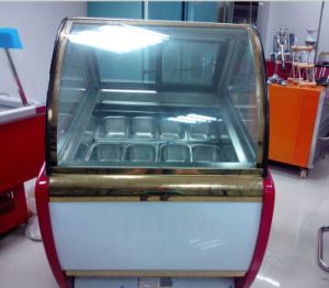 Gelato Ice Cream Display/ Popsicle Display Freezer pictures & photos