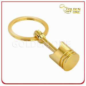 Hot Sale Best Quality Gold Plated Piston Metal Keyring pictures & photos