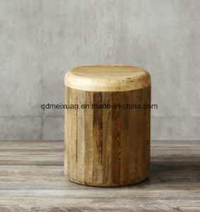 Direct Selling Wooden Stool Solid Wood Home Sitting Room of Small Tea Table Restoring Ancient Ways Round Natural Tea Table Block (M-X3786) pictures & photos