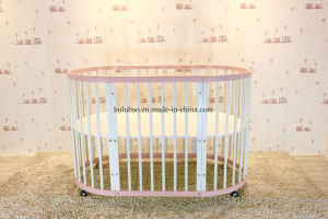 Baby Furntiure Children Furntire Wood Metal Convertible Crib Convertible Cot Round Crib pictures & photos