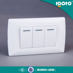 Igoto American Type 3 Gang 10A Wall Switch pictures & photos