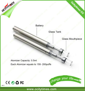 Ocitytimes Pyrex Glass Cbd Oil O2 Ceramic Coil Electronic Cigarette pictures & photos