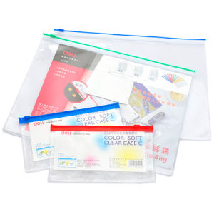 Wholesale High Quality Clear PVC Ziplock Document Bag with Different Colors pictures & photos