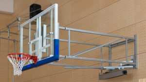 Side-Folding Wall Mount Glass Backboard, Fiba Certified pictures & photos