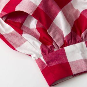 Cotton Poplin Plus Size Pleased Plaid Skirts Women Custom Skirts pictures & photos
