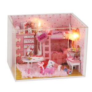 New Design with Light and Furniture Miniature DIY Wood House pictures & photos
