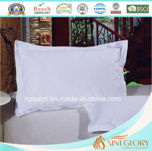 Cheap Price White Jacquard Pillow Protector Pure Cotton Pillow Cover pictures & photos
