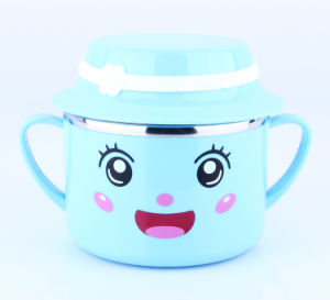 Stainless Steel Fast Food Mug Kids Dinner Set pictures & photos