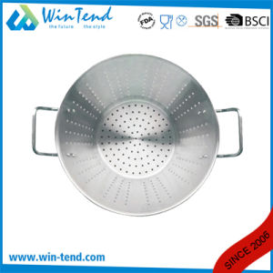 Kitchen Chef Drain Strainer with Base and Two Riveted Handle pictures & photos