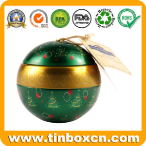 Ball Tin for Christmas Tin Box Packaging, Gift Tin Can pictures & photos