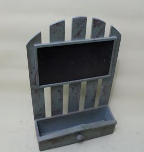 Blue Ribbon Blackboard Delicate and Lovely Wooden Flowerpot pictures & photos