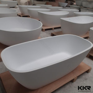 Acrylic Stone Solid Surface Bathroom Free Standing Bathtub pictures & photos