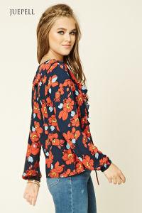 Fashion Flower Print Women Blouse pictures & photos