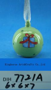 Christmas Tree Decoration Hand-Painted Ceramic Bear Bauble pictures & photos