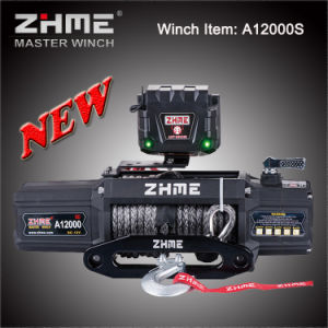 12000lbs Pull DC 12V Power Electric Winch with Synthetic Rope for Truck pictures & photos
