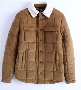 Manufacturer Men Corduroy and Shearling Fur Coat