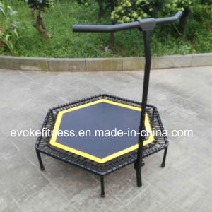 Stainless Steel Professional Jumping Fitness Rebounder Bungee Trampoline with Handle Bar pictures & photos