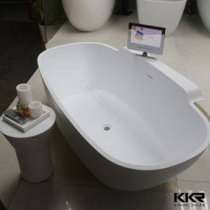2017 New Design Freestanding Stone Resin Bath Tub with TV (170818) pictures & photos