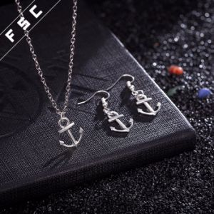 High Quality Simple Design Metal Alloy Fashion Anchor Jewelry Sets pictures & photos