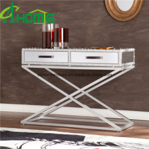 Luxury Modern Stainless Steel Console Table with Mirror pictures & photos