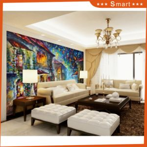 High Quality Home Goods Abstract Canvas Print Large Size Oil Painting Canvas Painting Model No: Hx-4-051 pictures & photos