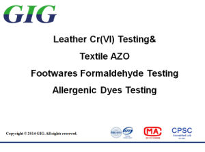 Leather Cr (VI) /Formaldehyde/Allergenic Dyes Test Service in China pictures & photos