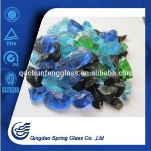Colored Glass Rocks for Decoration pictures & photos