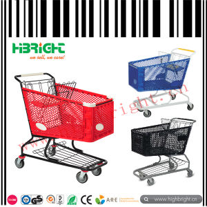 Supermarket Grocery Plastic Shopping Cart Trolley pictures & photos