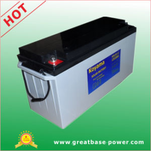 150ah 12V High Quality Deep Cycle Hybrid Gel Battery for Solar System pictures & photos