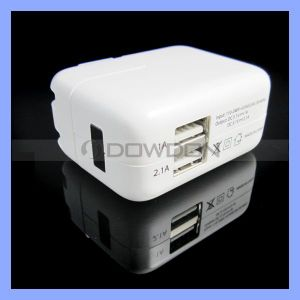 Power Adapter Dual USB Travel Charger for iPad iPhone Wall Charger Us/EU/UK/Au Plug pictures & photos