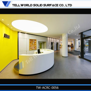 Reception Desk LED Illuminated Reception Desk SPA Reception Desk in White Vinyl or Leather pictures & photos