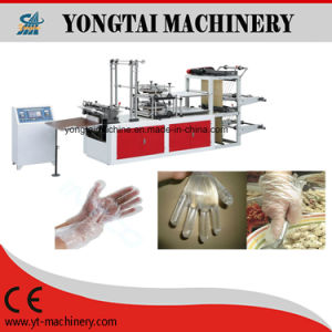 Double Layers Working PE Disposable Plastic Glove Making Machine pictures & photos
