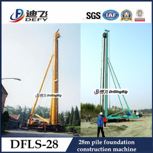 Hydraulic Pile Driving Machine Max Depth 28m, Dfls-28 Hydraulic Rotary Drill Rig pictures & photos