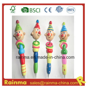 Wooden Craft Pencil with Clown Cartoon Design pictures & photos