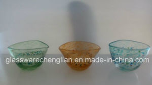 Special Designed Mini Glass Bowls with Colorful Dots (W-014) pictures & photos