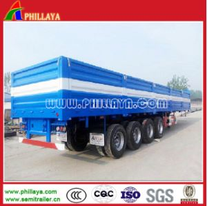 Multipurpose 4 Axles 80ton Container Cargo Semi Trailer with Open Side Walls pictures & photos