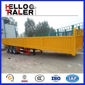 3 Axles Side Wall Trailer with 600mm Height Wall pictures & photos