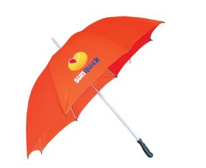 Red Advertisement Straight Umbrella (BR-ST-90) pictures & photos