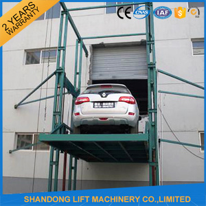 Ce Standard Hydraulic Guide Rail Cargo Elevator for Sale pictures & photos