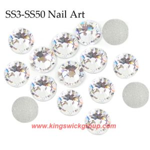 Wholesale 13 Sizes Clear Crystal Non Hotfix Flatback Rhinestones for Nail Accessories pictures & photos
