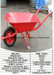 Pb-Free and UV Stable Wheel Barrow/ Chinese Hot Sell Hand Trolley/ Garden Cart pictures & photos