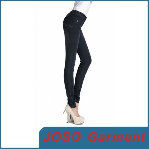 Women Black Skinny Leggings Jeans (JC1061) pictures & photos