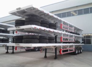 Three Axles 30ton Container Trailer Flatbed Semi Trailer pictures & photos