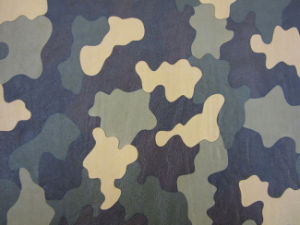 Camouflage Pattern PU Leather for Shoes and Bags (HX1418) pictures & photos