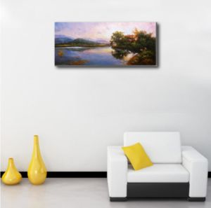 The Art Painting of Secluded Lakeside pictures & photos
