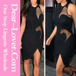 Asymmetric Hemline Sleeveless Bodycon Dress pictures & photos