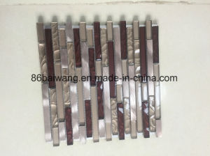 Natural Polished Marble Crystal Glass Mosaic for Interior Floor Design pictures & photos