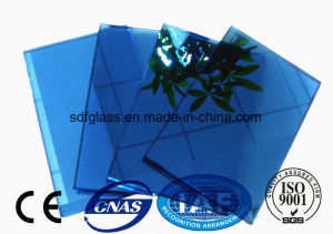 Costruction Blue Reflective Float Glass with Ce. ISO (4mm to 10mm)