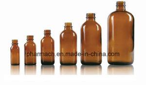 Pharmacetical Amber Boston Round Glass Bottle 1/2oz 1oz 2oz 4oz 6oz pictures & photos